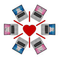 Online Dating Network Royalty Free Stock Images