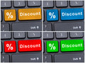 Online e-commerce with discount button Royalty Free Stock Photo