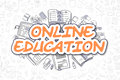 Online Education - Doodle Orange Word. Business Concept. Royalty Free Stock Photo