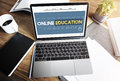 Online Education Homepage E-learning Technology Concept Royalty Free Stock Photo