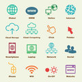 Online elements vector infographic icons Royalty Free Stock Photography
