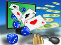 Online gambling Stock Photography