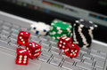 Online gambling addiction concept image Royalty Free Stock Images
