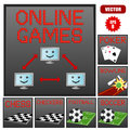 Online game banners Royalty Free Stock Photos