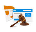 Online legal law web concept illustration design over a white background Royalty Free Stock Images