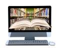 Pripojený do internetovej siete knižnica výskum a vzdelanie