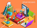 Online library. The process of education, the concept of learning and reading books in the library. University studies