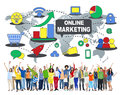Online Marketing Commerce Global Business Strategy Concept Royalty Free Stock Photo