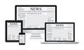 Online News Vector Illustratio...