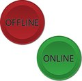 Online offline buttons colored with light shadows Royalty Free Stock Images