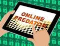 Online Predator Stalking Against Unknown Victim 3d Illustration Royalty Free Stock Photo