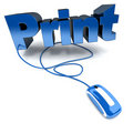 Online print in blue Royalty Free Stock Photo