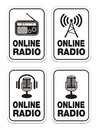 Online radio signs Royalty Free Stock Photos