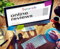Online reviews feedback comment suggestion concept Royalty Free Stock Images