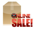 Online sale box illustration design Stock Images