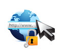 Online security concept illustration design over white Stock Photos