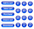 Online shop button set Royalty Free Stock Photo