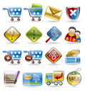 Online Shop Icon Set Royalty Free Stock Photo
