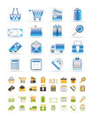 Online shop icons - vector  icon set Royalty Free Stock Photo