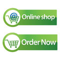 Online shop and order now button
