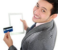 Online shop with tablet Stock Photography