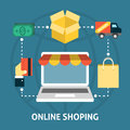 Online shoping concept Royalty Free Stock Photo