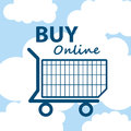 Online shopping cart business ecommerce Royalty Free Stock Photo