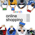 Online Shopping Commercial Buying Retail Concept Royalty Free Stock Photo