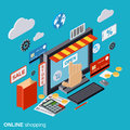 Online shopping, e-commerce, distant trade vector concept Royalty Free Stock Photo