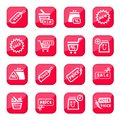 Online shopping icon set Royalty Free Stock Photos