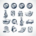 Online shopping icons Royalty Free Stock Photo