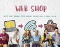 Online Shopping Web Shop E-shopping Concept Royalty Free Stock Photo