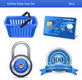 Online Store Icon Set Royalty Free Stock Photo