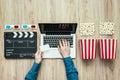 Online streaming cinema Royalty Free Stock Photo