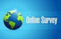 online survey international sign illustration