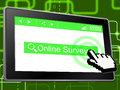 Online Survey Represents World Wide Web And Assessing