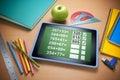 Připojen do internetové sítě vzdělání studium