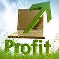 Online trading and gold coins symbol Royalty Free Stock Photography