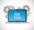 online training computer text sign Royalty Free Stock Photo