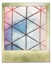 Onmiddellijke foto van de structuur van het glasdak Stock Foto