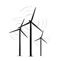 Onshore wind turbine towers renewable energy farm