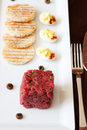 Ontario Bison Tartare Royalty Free Stock Photo