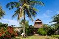 Wooden vacation house on Gili Trawangan, Indonesia Royalty Free Stock Photo