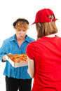 Ooooh - Yummy Pizza Delivery Royalty Free Stock Photos