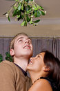Oops mistletoe Royalty Free Stock Image