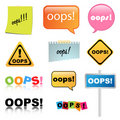 Oops sign Royalty Free Stock Photo