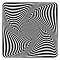 Op art abstract design. Royalty Free Stock Photo