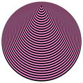 Op Art Concentric Circles Light Purple Over Black Royalty Free Stock Images