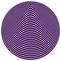 Op Art Concentric Circles Violet Over Black Royalty Free Stock Photos
