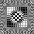 Op art cube and sphere Royalty Free Stock Photo